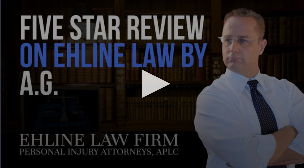 See the positive car accident client review video about Ehline Law Firm