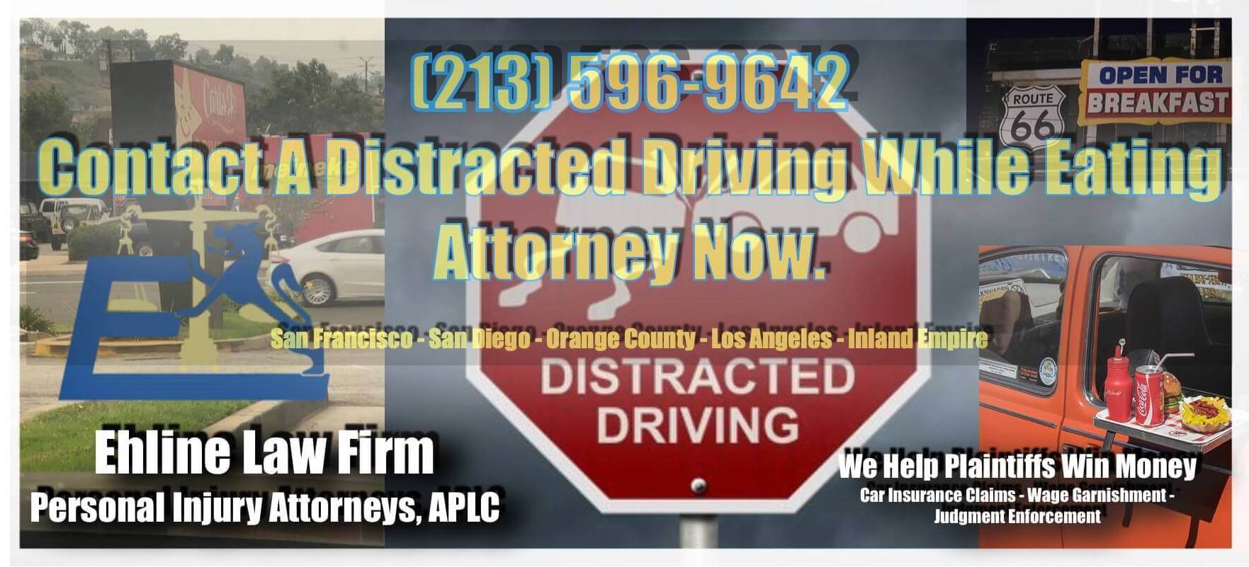 Distracted eating car accident attorneys Los Angeles