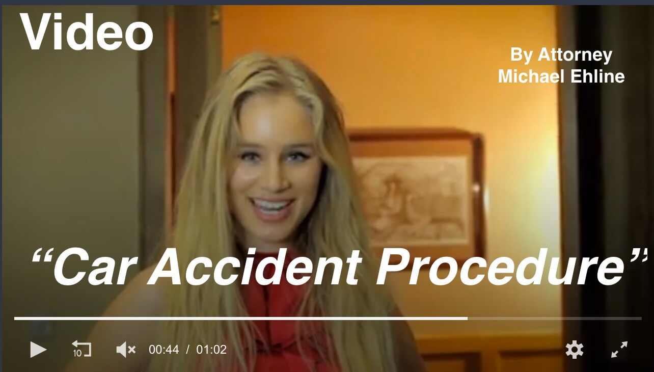 Attorney Michael Ehline discusses car accident procedure in this smart, entertaining video