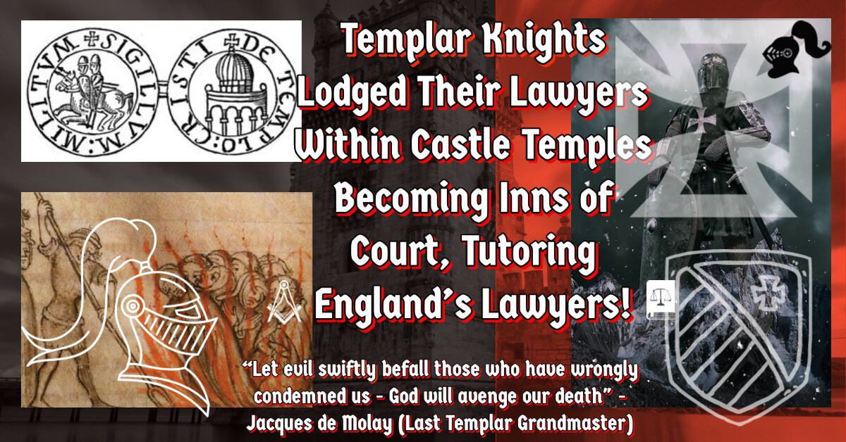 Knights Templars lodged the first law professors at their Inns of Court.