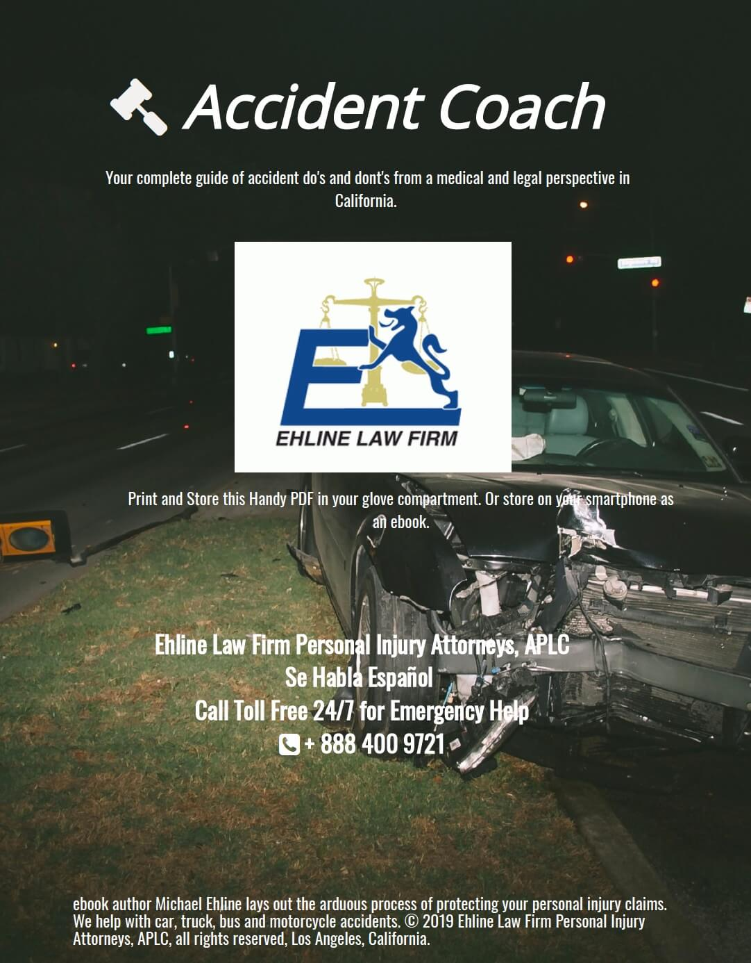 Learn from the Car Accident Coach, Michael Ehline and stay safe and solvent financially after a car wreck by clicking here.