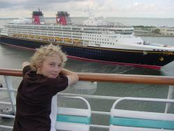Enjoying a cruise ship ride