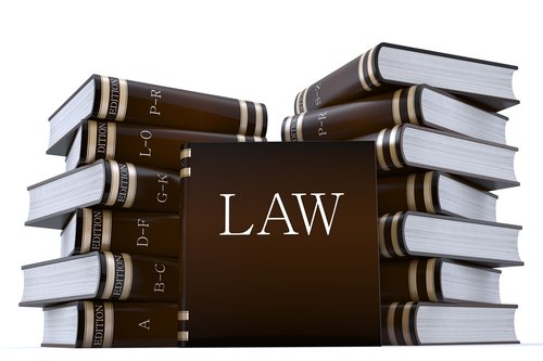 3d render of a collection of law books