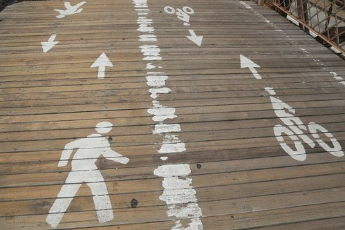 Image of wooden pedestrian pathway at the beach in LA County