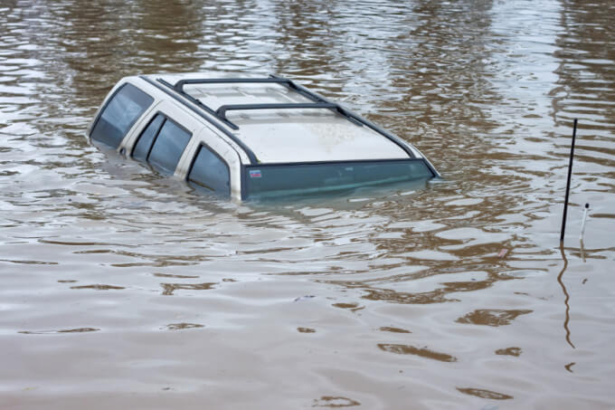 Sinking Car Danger