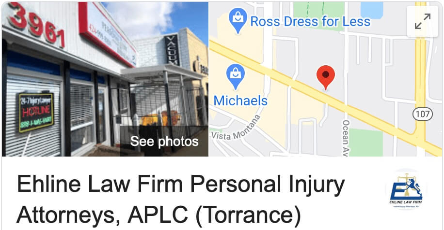 Clickable Map to Ehline Law Firm - Torrance, CA