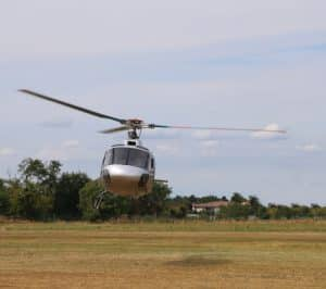 Helicopter departs airport