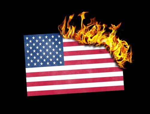 Illegals and flag burning
