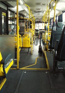 interior of a bus in Newport Beach