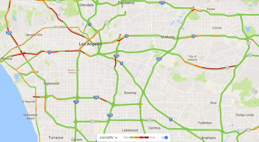 Traffic Map Showing major streets and freeway interchanges where accident take place near you.