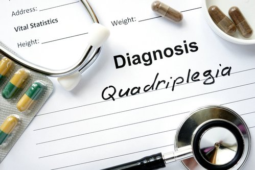 Quadriplegia medical chart.