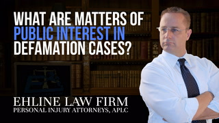 Thumbnail for Video: What Are Matters Of Public Interest In Defamation Cases?