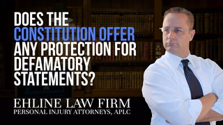 Thumbnail for Video: Does The Constitution Offer Any Protection For Defamatory Statements?