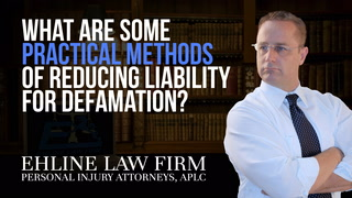 Thumbnail for Video: What Are Some Practical Methods Of Reducing Liability For Defamation?