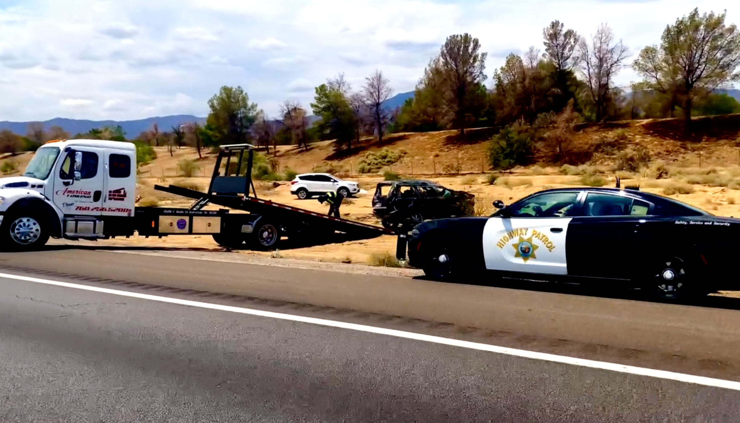 Nipton SUV Roll Over July 22nd 2021 (15 FWY)