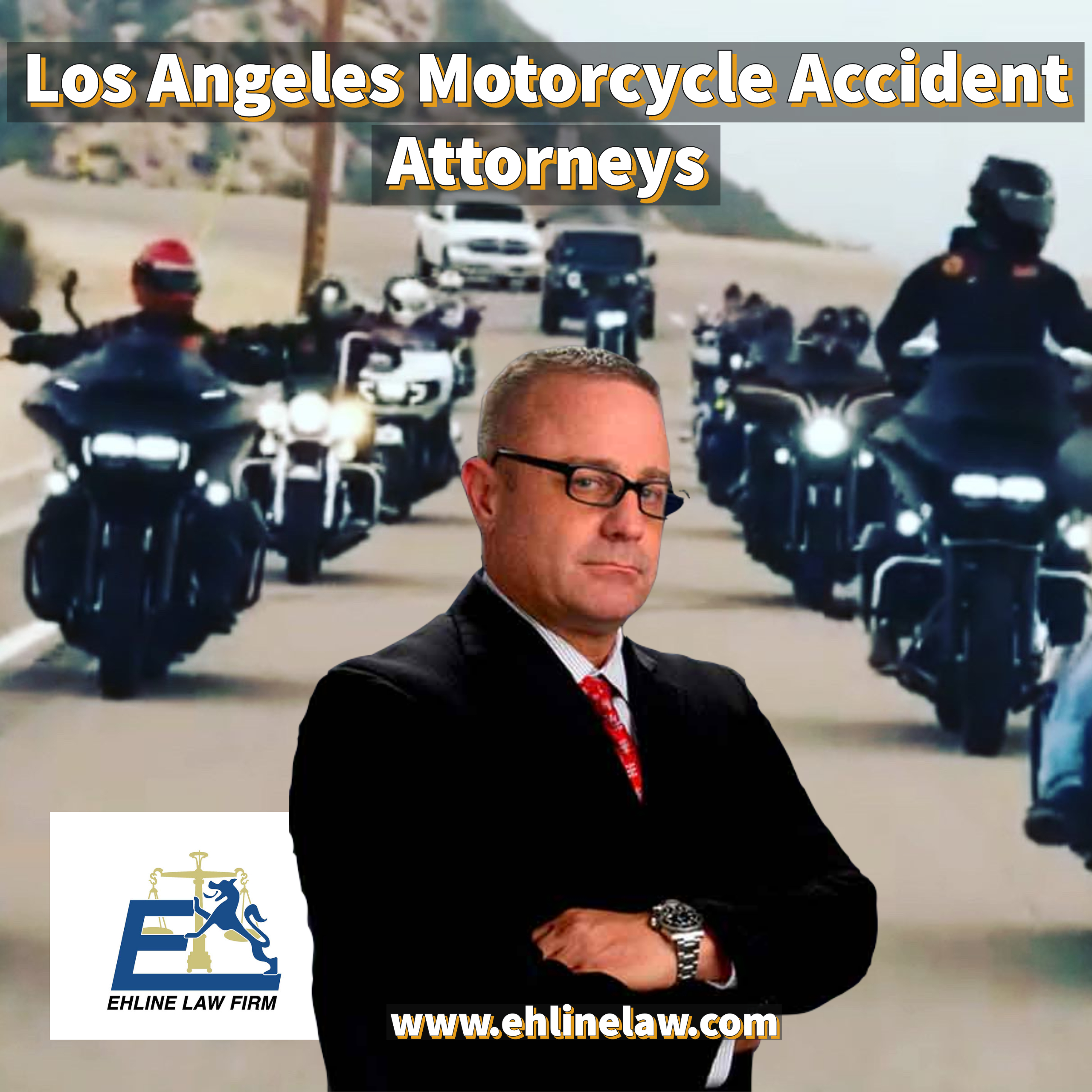 Motorcycle lawyers in Los Angeles helping riders collect money for personal injuries.